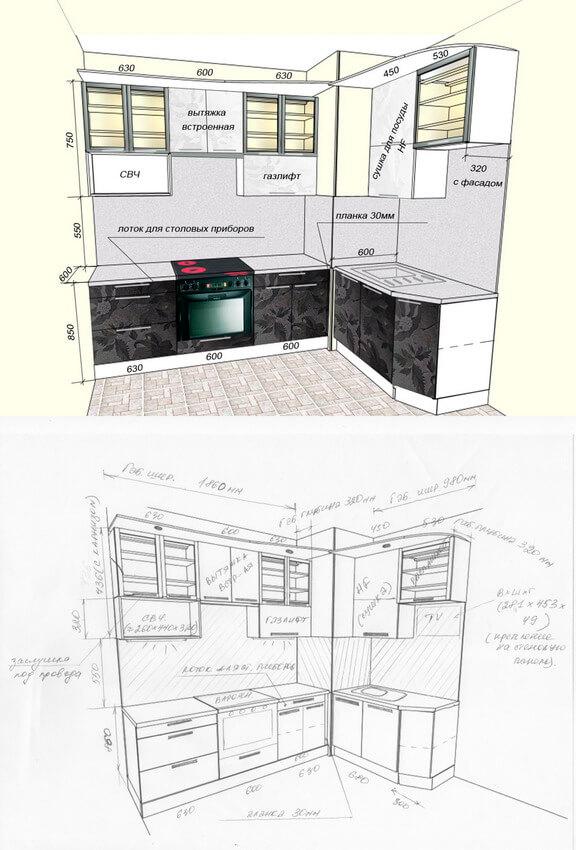 Фото кухни на заказ 28