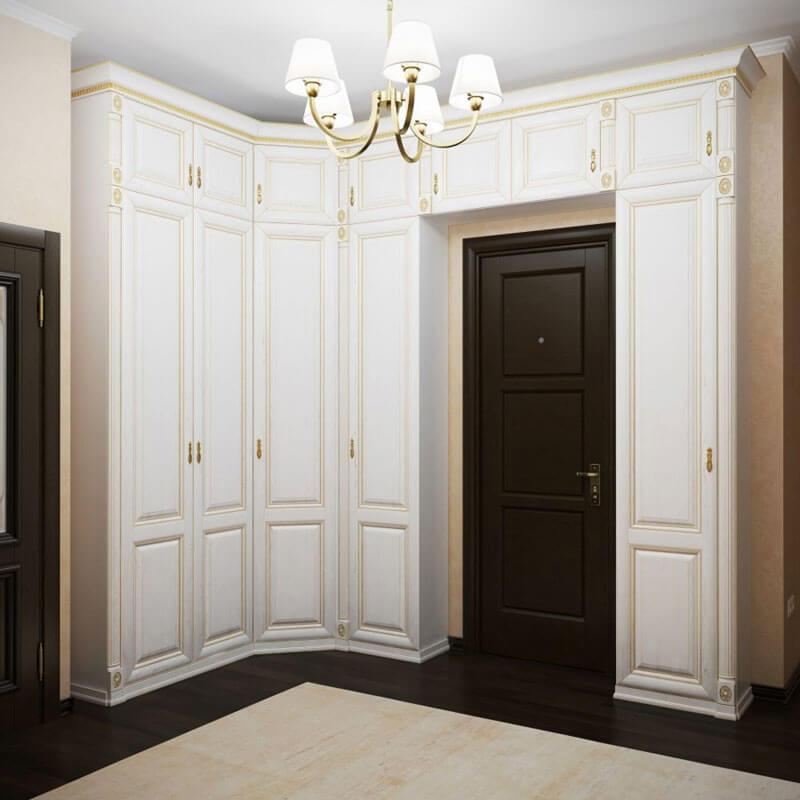Угловой шкаф в классическом стиле на заказ