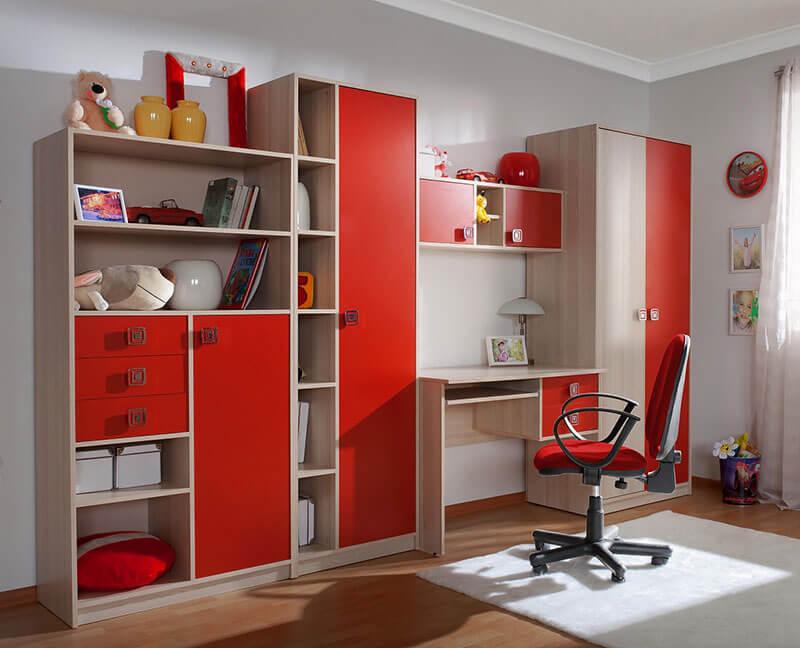 Красная детская комната на заказ