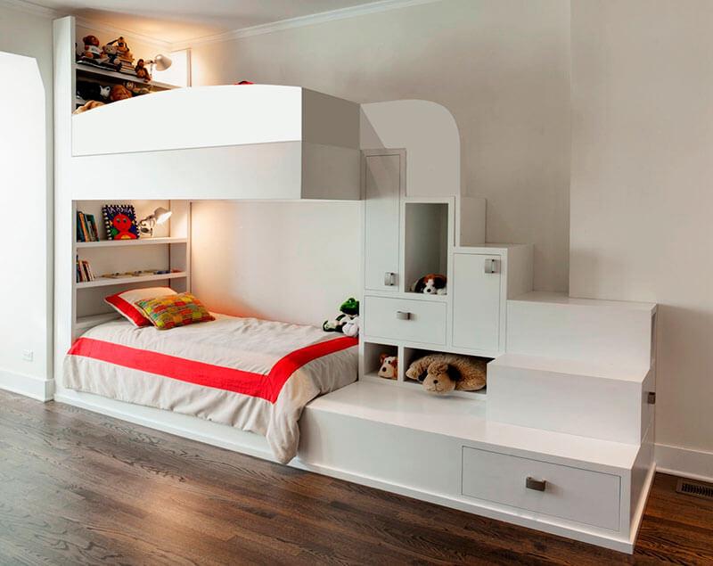 Кровать чердак для двоих на заказ