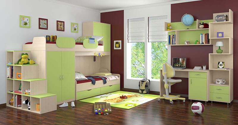 Детская с кроватью и полками на заказ