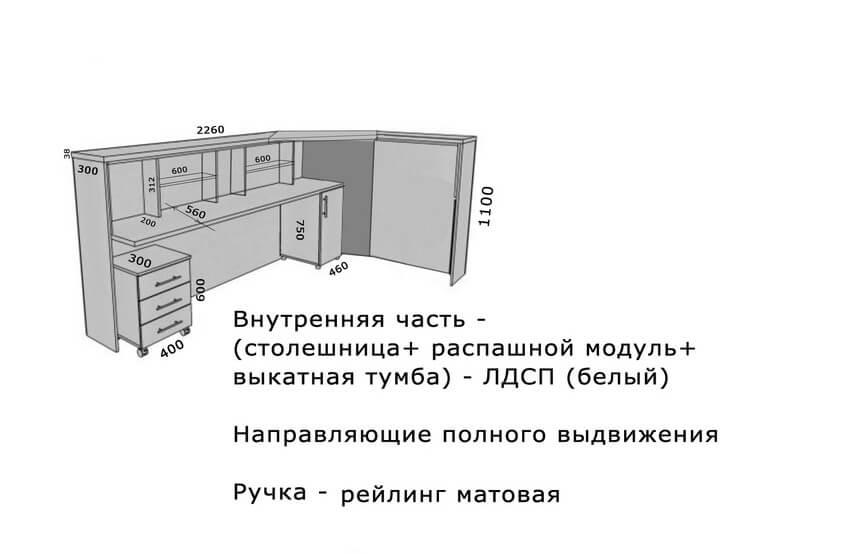 Фото корпусной мебели на заказ 8