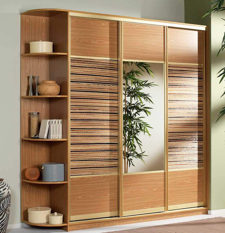 Шкаф-купе со вставками бамбук на заказ