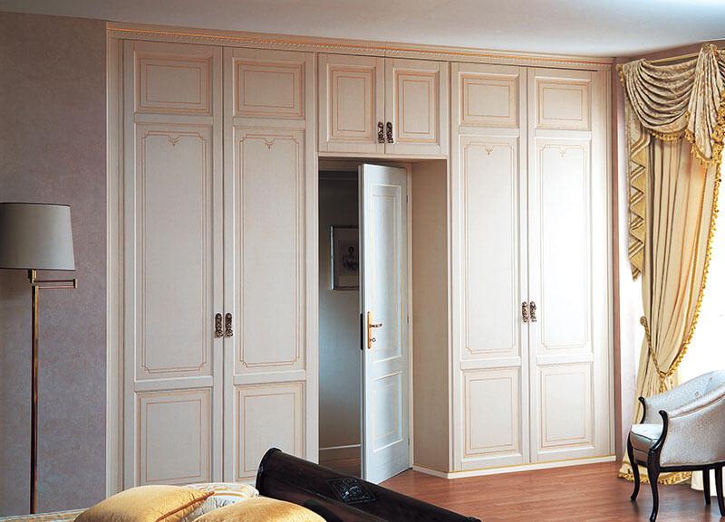 П-образный шкаф в классическом стиле на заказ