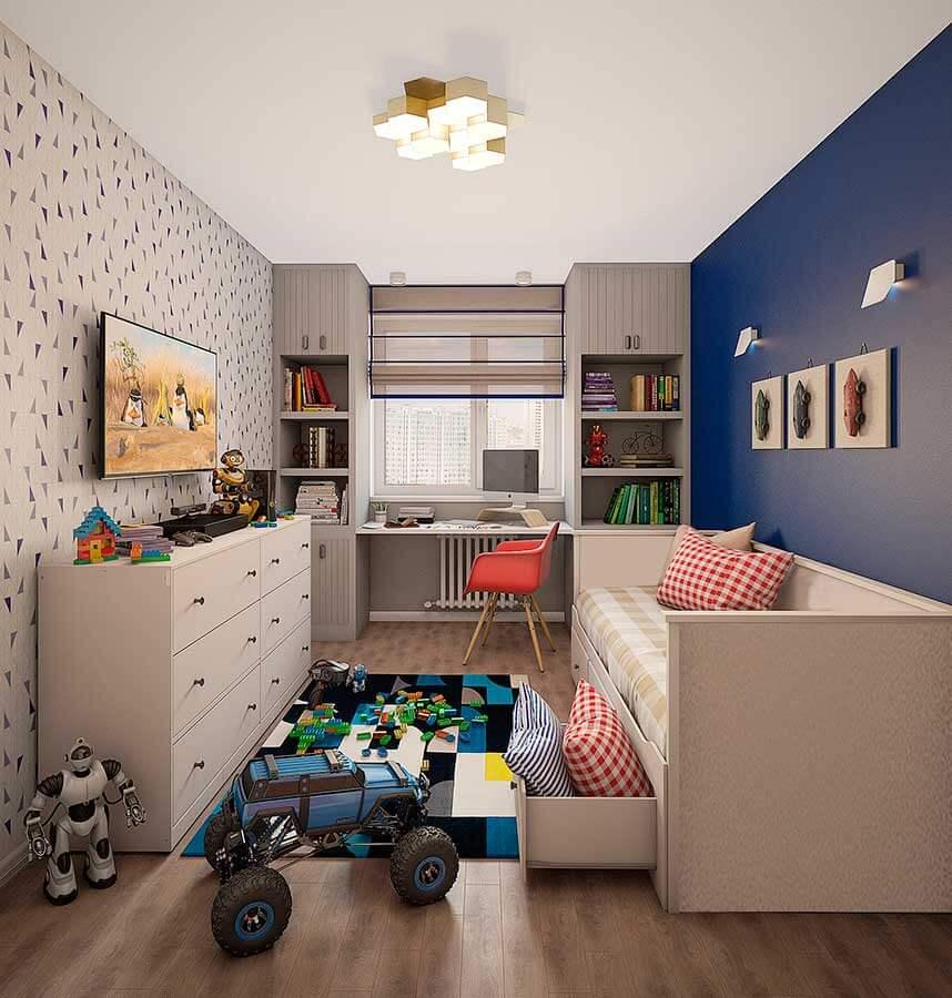 Детская с кроватью и столом у окна на заказ