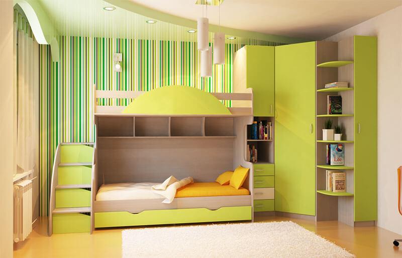 Салатовая детская мебель на заказ
