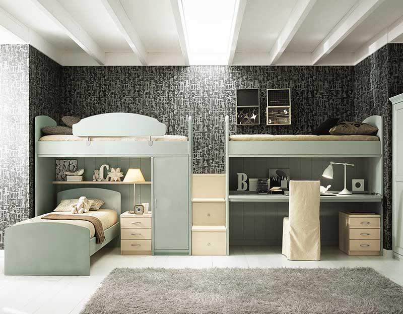 Детские двухярусные кровати для двоих детей на заказ