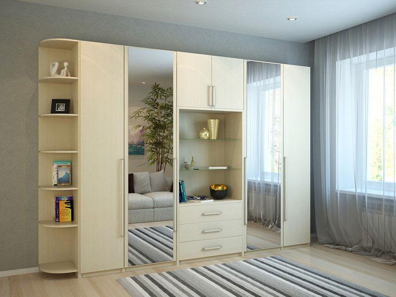 Корпусный шкаф с двумя зеркалами