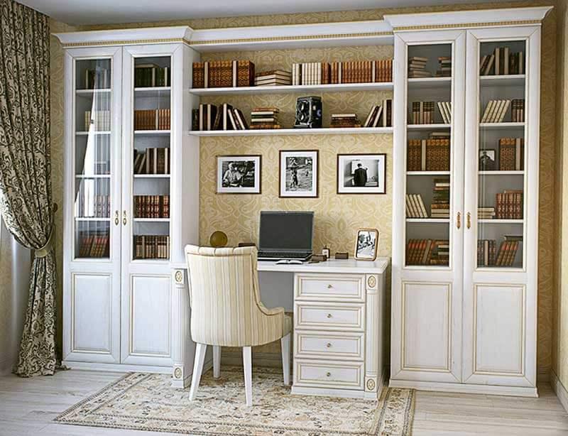 Письменный стол на заказ со стеллажами